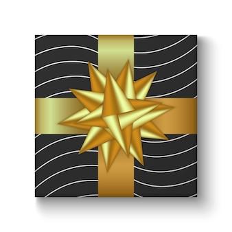 Coloré de boîte de cadeau de vacances décorée avec ruban et arc