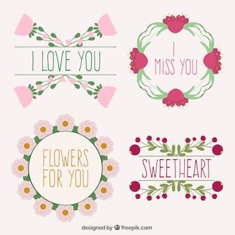 Coloré cadres floraux collection