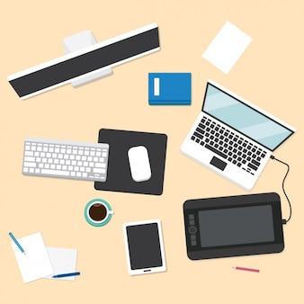 Coloré conception de l'espace de travail