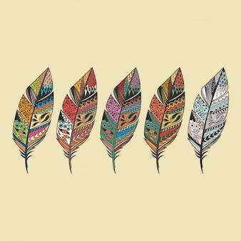 Coloré conception de plumes
