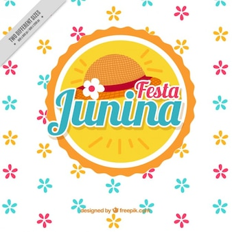 Coloré fleurs fond de junina festa