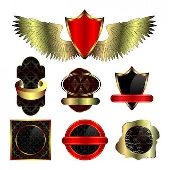 Coloré insignes conception