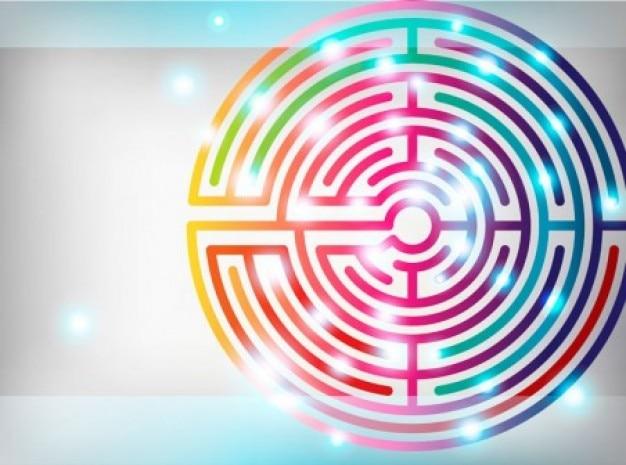 Coloré labyrinthe vecteur ensemble