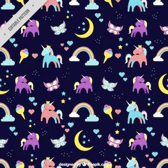 Coloré licornes motif