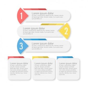 Coloré modèle infographique