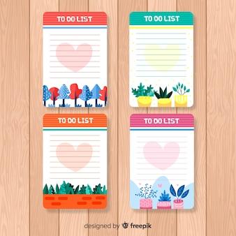 Coloré pour faire la collection de liste avec un design plat