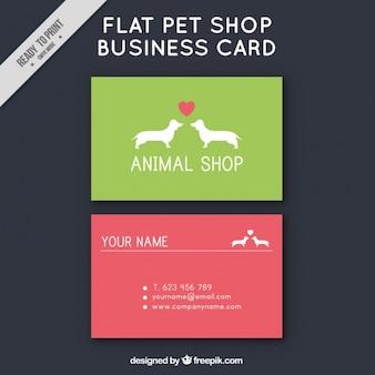 Colored carte de magasin pour animaux de compagnie