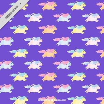 Colored licornes motif