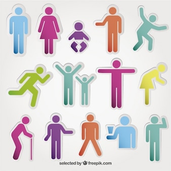 Colored people icônes