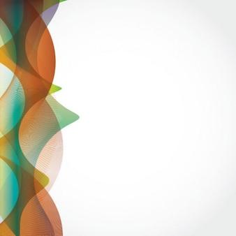 Colorés des lignes fluides de fond abstrait