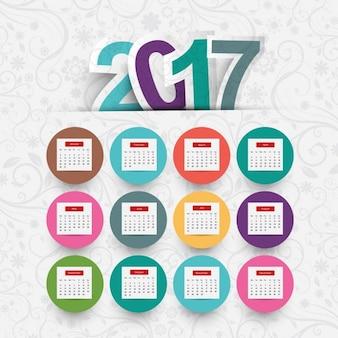 Colorful 2017 calendar