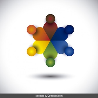 Colorful abstrait logo
