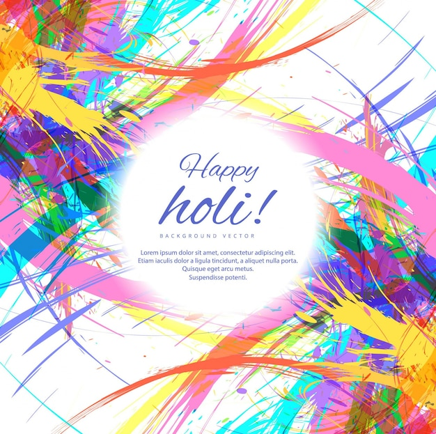 Colorful ambiance happy holi