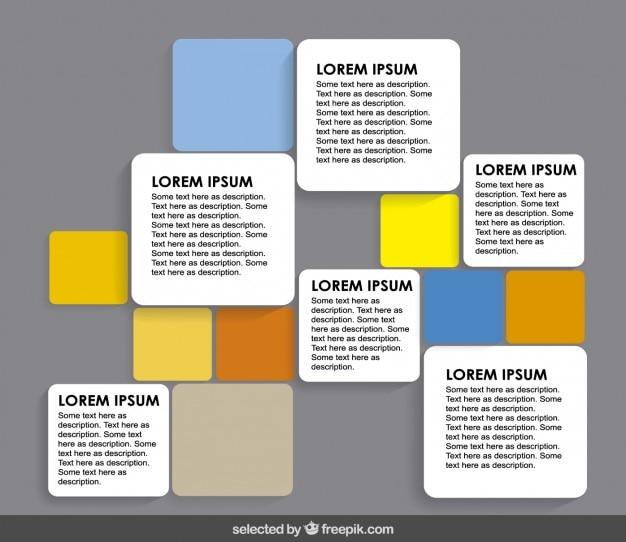 Colorful arrondie carrés modèle