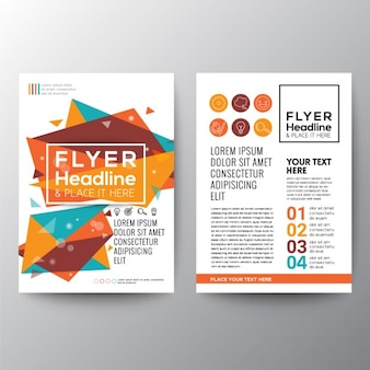 Colorful brochure abstraite polygonale