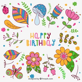 Colorful carte d'anniversaire sommaire