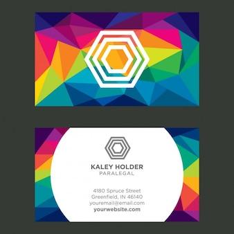 Colorful carte de visite polygonale