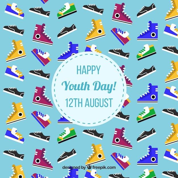 Colorful chaussures de sport fond