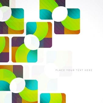 Colorful fond abstrait dans le style géométrique