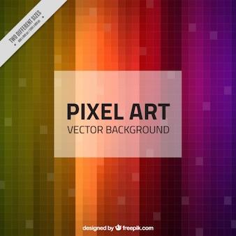 Colorful fond rayé en pixels
