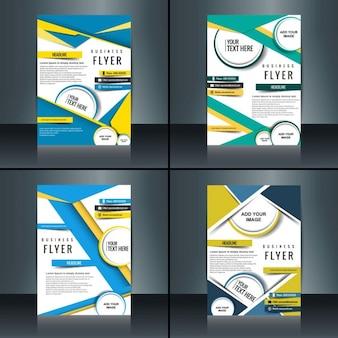 Colorful jeu de brochure d'affaires
