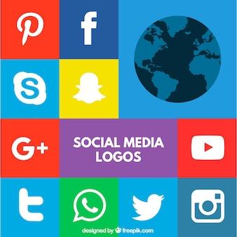 Colorful logos des médias sociaux
