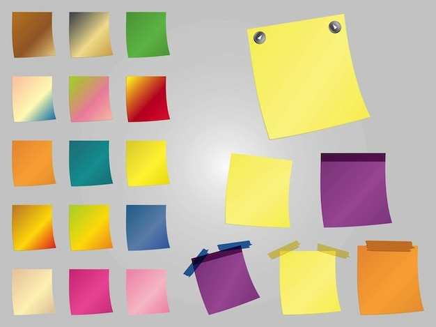 Colorful post-it fournitures de bureau