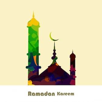 Colorful ramadan kareem