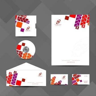 Colorful set de papeterie d'affaires