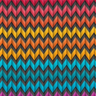 Colorful zig zag fond