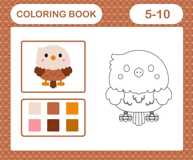 Coloriage d'un aigle mignon
