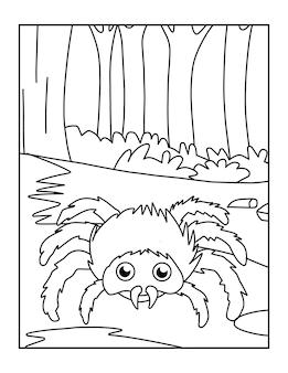 Coloriage araignée araignée