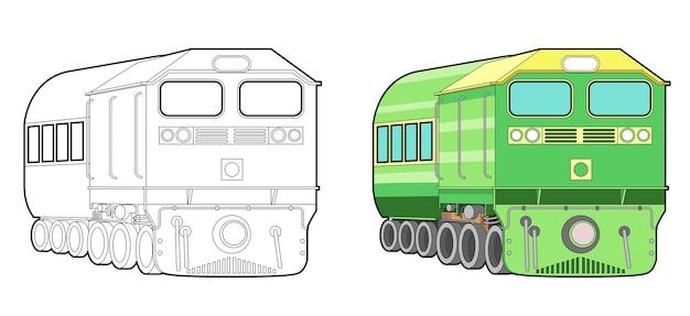 Coloriage de dessin animé de train