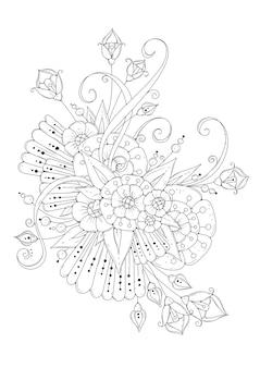 Coloriage avec des fleurs.