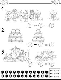Coloriage de jeu mathématique