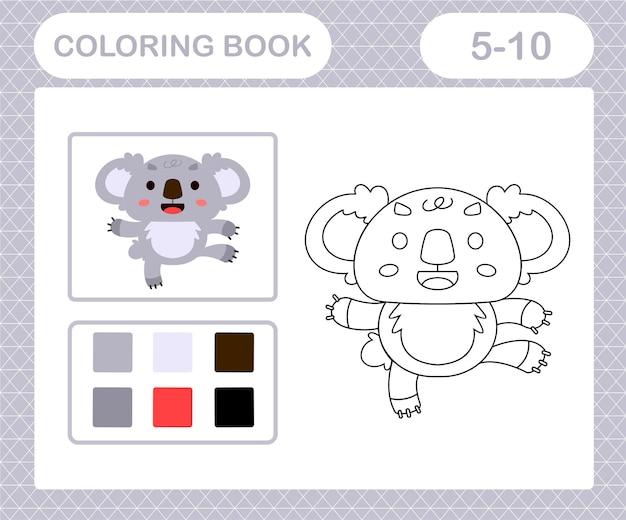 Coloriage de koala mignon