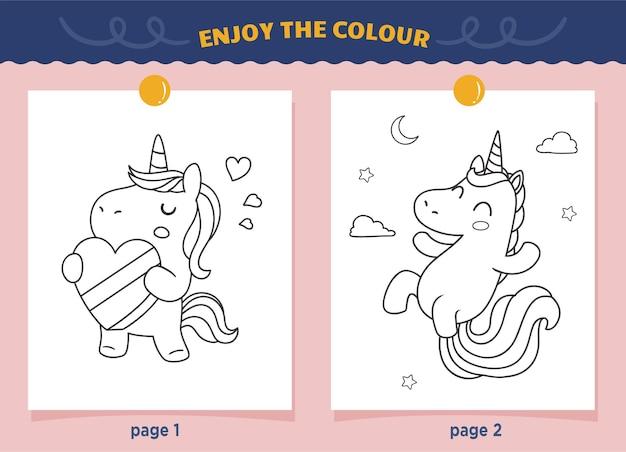 Coloriage licorne si mignon pour les enfants