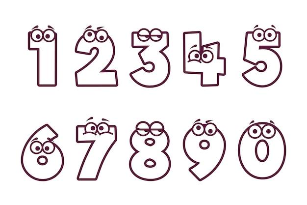 Coloriage mignon pour les enfants avec des nombres