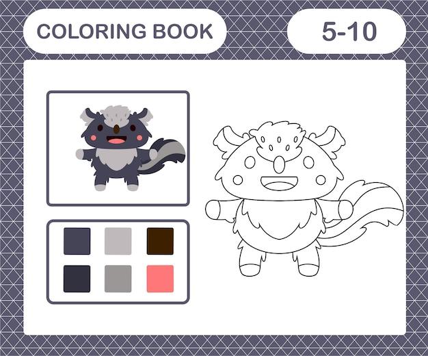 Coloriage de mouffette mignonne