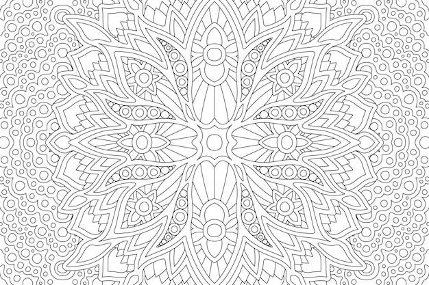 Coloriage page de livre avec design abstrait zen linéaire