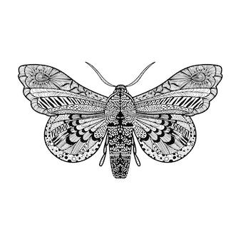 Coloriage papillon avec des détails élevés