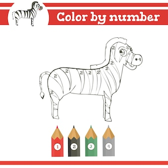 Coloriage par numéros pour les enfants d'âge préscolaire apprendre le jeu éducatif des nombres
