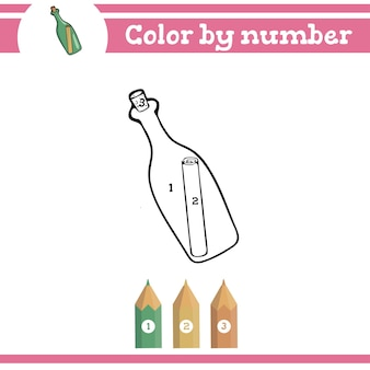 Coloriage par numéros pour les enfants d'âge préscolaire qui apprennent les chiffres pour les jardins d'enfants et les écoles