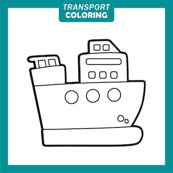 Coloriage de personnages de dessins animés de véhicules de transport mignons avec brise-glace