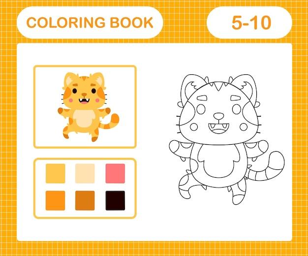 Coloriages de jeu d'éducation de chat mignon pour les enfants de 5 et 10 ans