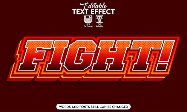 Combat d'effet de texte modifiable
