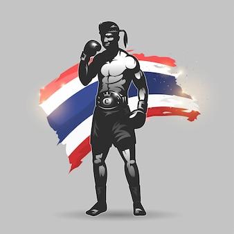 Combattant de muay thai