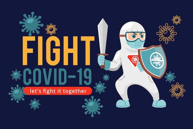 Combattez le virus prêt à vous battre pour la santé
