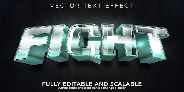 Combattre L'effet De Texte Vecteur gratuit