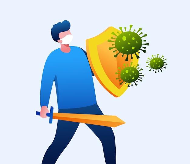 Combattre le virus